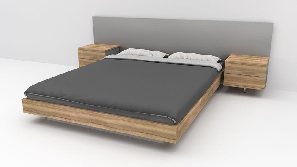 מיטת יאנג זוגית כוללת זוג שידות